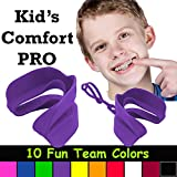 Kid's Comfort PRO Youth Double Sports Mouth Guard Wear with or Without Braces (Purple)