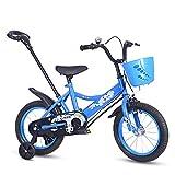 """Vélo Guo Shop pour Enfants 12/14/16 Pouces 2-3-5-7 Ans Vieux garçons et Filles Enfants bébé d'âge préscolaire avec Poussoir (Couleur : Bleu, Taille : 12"""")"""