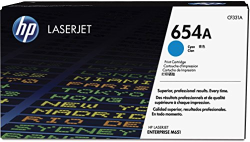 HP 654A (CF331A) Blau Original Toner für HP Color Laserjet Enterprise M651
