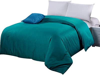 LJ/&XJ Winter Thickened Warm Duvet Cover,Soft Comfortable Fluffy Quilt Cover Single Quilt Cover-Flannel Queen/&King Reversible-A 150x200cm 59x79inch