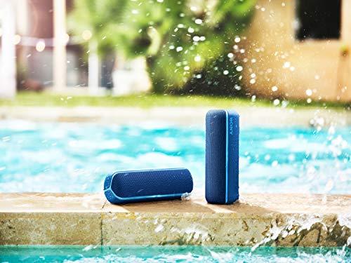 Sony SRS-XB22 kabelloser Bluetooth Lautsprecher (tragbar, farbige Lichtleiste, Extra Bass, Bluetooth, NFC, wasserabweisend, kompatibel mit Party Chain, Freisprechfunktion für Anrufe) blau