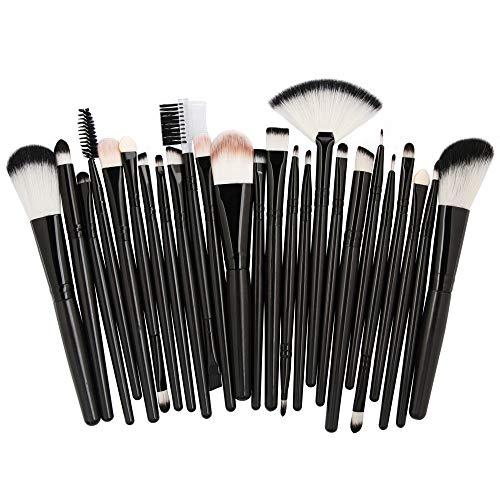 Cwemimifa Mascara-Bürsten Einweg,25pcs Cosmetic Makeup Brush Blusher Eye Shadow Brushes Set Kit,H