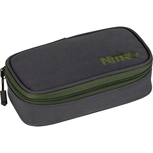 Nitro Pencil Case XL inkl. Geo Dreieick & Stundenplan, Federmäppchen, Schlampermäppchen, Faulenzer Box, Federmappe, Stifte Etui,  Pirate Black