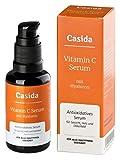 Vitamin C Serum - Hochdosiert mit Hyaluron - 30 ml Anti-Aging Vitamin C Serum/ Gel für Gesicht, Augen, Hals und Dekolleté - enthält zusätzlich Hyaluronsäure - Aus der Apotheke