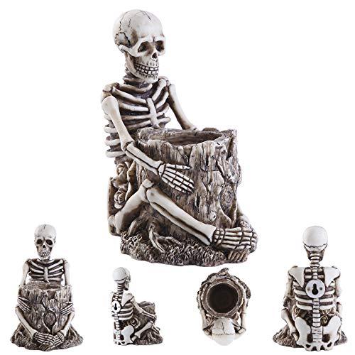 skeleton decor pen/pencil holder toothbrush holder desk/wall mounted crafts home decor gift for men or women