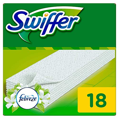 Swiffer Bodenwischer Trockene Bodentücher Nachfüllpack mit Febreze-Duft 18 St.