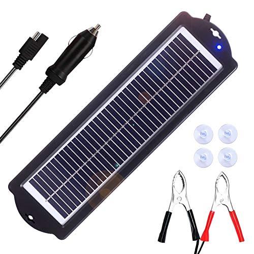 SARONIC 3W 12V Solar Trickle Ladegerät Wasserdicht Tragbare Monokristalline Solarzellenwand für RV Motorradboot