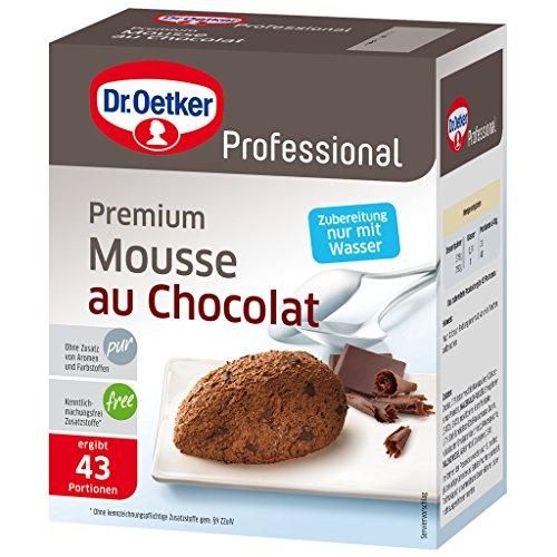 Dr. Oetker Professional Premium Mousse au chocolat, Mit Edelschokolade, Dessertpulver in 0,75 kg Packung