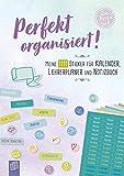 """Perfekt organisiert! 1111 Sticker für Kalender, Lehrerplaner und Notizbuch """"live – love – teach"""": Ein A5-Stickerheft"""