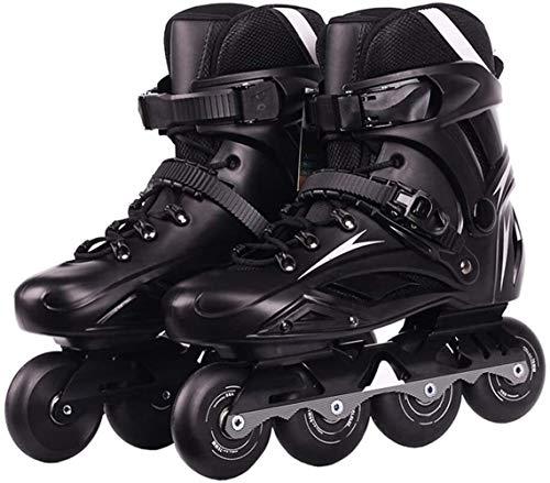 LQ Speed 4-Rad-Slalom Inline-Skates Schuhe for Erwachsene Rollerskating Patines Schule Jungen Mädchen Roll Sneaker (Color : Black, Size : EU 36US 4.5UK 3.5JP 23cm)