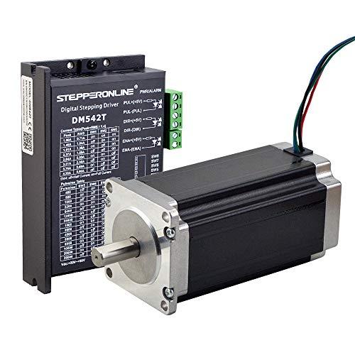 Stepperonline, 1 kit con stepper driver da 3,0 Nm per motore passo-passo Nema 23, stampanti 3D e frese CNC