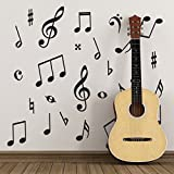 ZygoMax Pack of 50 Music Wall Stickers - Music Symbols Wall Decals