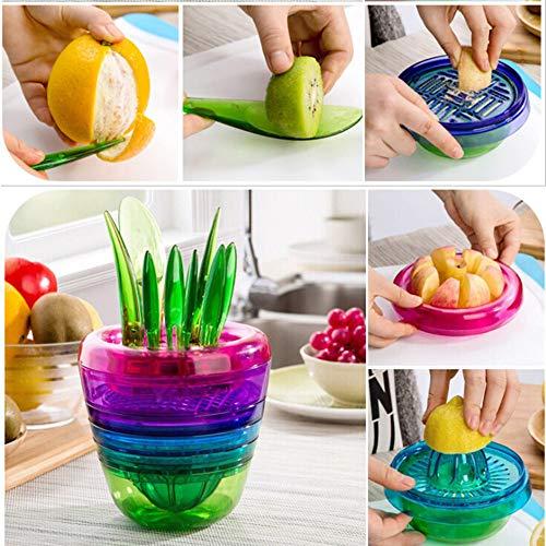 LeSB Fruit Salad Cutter Citrus Juicer Grinder Kitchen Gadget Flower Pot...