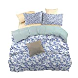 hengshu Pure Bedding Hotel Luxury Bed Linen, Can be Used as a Quilt Cover-Lightweight, Flower, Forest Morning Freshness, W86 x L94 Inch, Kids' Bedding