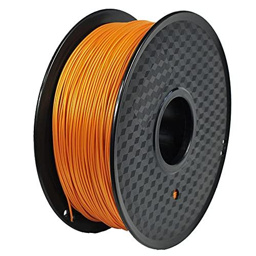 3D Printer Filament 1.75mm PLA Polylactic Acid Filament 1kg 2.2lb Spool, High Toughness, High Strength-Golden