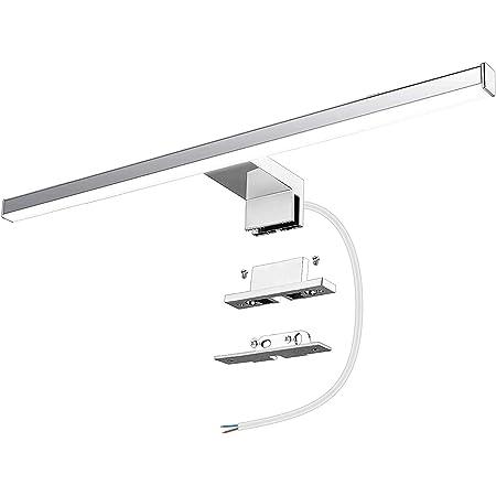 Azhien Lampe pour Miroir LED Salle de Bains 10W 820lm 230V 600mm Blanc Neutre 4000K Lampe Miroir Applique Murale Intérieure Moderne Luminaire Salle de Bain IP44 60cm