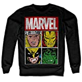 Licenza Ufficiale Marvel Distressed Characters Felpa (Nera),...