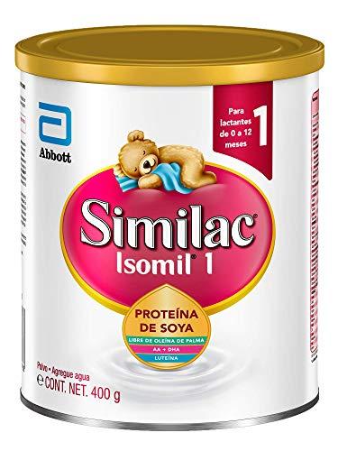 Isomil | Etapa 1 Fórmula Infantil con Base de Proteína de Soya para Bebes de 0 a 12 Meses | 400g
