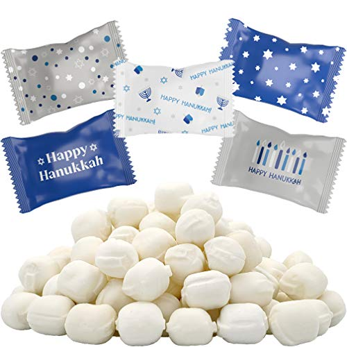 Happy Hanukkah Buttermints, Mint Candies, After Dinner Mints, Butter Mint Candy, Fat-Free, Kosher Certified, Individually Wrapped (100 Pieces)