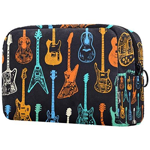 TIKISMILE Colorido guitarra acústica eléctrica grande bolsa de maquillaje neceser bolsa de...
