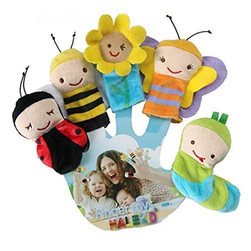 Fliyeong Insektenserie Fingerpuppe Fingerpuppen Früherziehung Puppe Spielzeug für Kinder Kind Kleinkind Baby Liefert Geburtstagsgeschenk Kreative und Nützliche