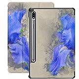 Funda Galaxy Tablet S7 Plus de 12,4 Pulgadas 2020 con Soporte para bolígrafo S, Pintura al óleo Digital Irisdigital con Barba Azul Funda Protectora con Soporte Delgado para Samsung