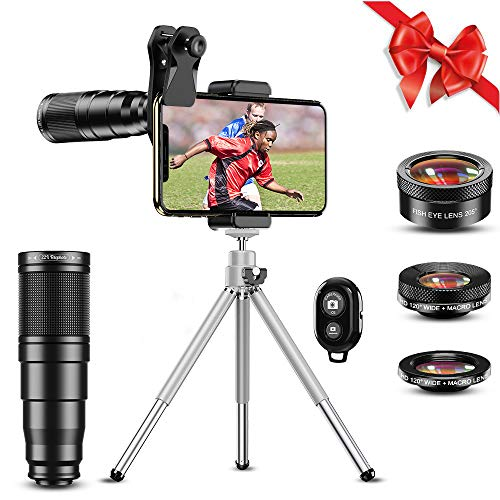 Apexel Kit de lente de cámara de teléfono, lente...