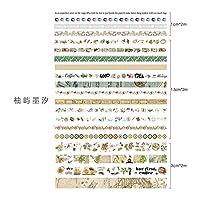 RBRYP Coloffice 20 Rollesセット韓国マスキングテープカラフルな印刷ハンドブック素材デコレーションステッカーテープ学生文具 使いやすく操作も簡単 (Color : 6)