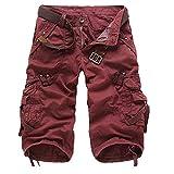 U/A táctico camuflaje camuflaje cargo pantalones cortos hombres casual pantalones cortos masculinos de trabajo flojos hombre