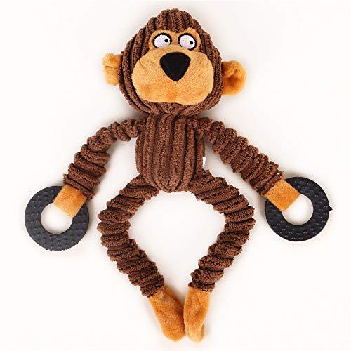 Kauspielzeug für Hunde, quietschendes Plüsch-Spielzeug, Kauspielzeug, Hundebegleiter – verschiedene Tierformen, Trainingsspielzeug für Welpen, kleine, mittelgroße und große Hunde