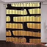Michance Cortinas Decorativas Creativas En 3D Adecuado para Cortinas De Sala De Estar, Dormitorio, Hotel, Centro Comercial Protección Efectiva De La Privacidad Personal 2 Piezas