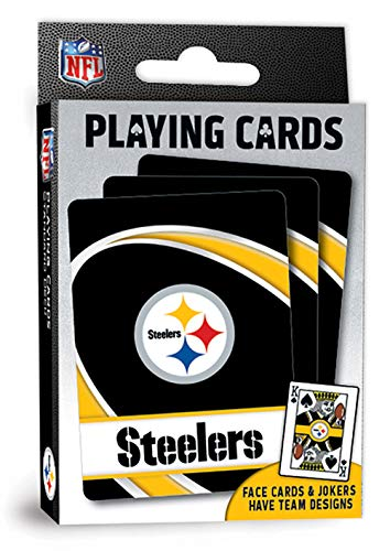 MasterPieces NFL Pittsburgh Steelers Playing Cards, 2.5