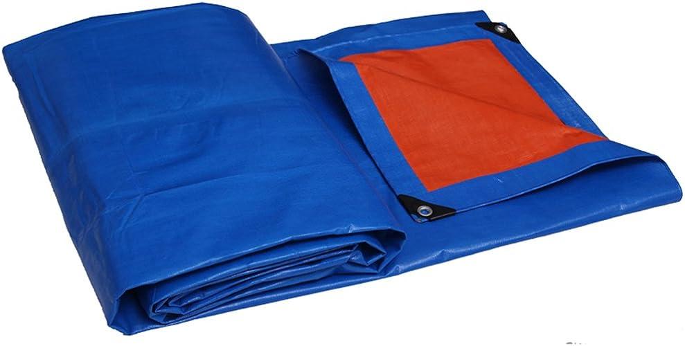Qing MEI Un écran Solaire Imperméable à l'eau De Pluie De Bache Bleu Solide PVC sans Libérer La Poussière De Taille 10 Bonne épaisseur De L'isolant 0,35 A+ (Taille   5.9mx3.8m)