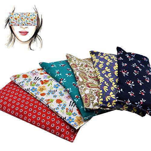 Almohada para los ojos 'Pack de 6 unidades -New Flowers 2020' | Semillas de Lavanda y arroz | Yoga, Meditación, Relajación, descanso de ojos...