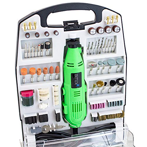 BITUXX® 234 teiliges Mini Schleifer Set Multifunktionswerkzeug Mehrzweckschleifmaschine Handschleifer Multischleifer Multitool Drill Werkzeug 135W und Drehzahlregelung