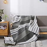 Soul & Lane Madrona Cotton Patchwork Bedding Quilted Throw - 50' x 60' | Modern Lap Bedding Quilt for Couch and Bed