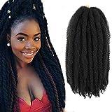 Callia Marley Hair For Twists 6 Packs Marley braiding Hair 18' Afro Kinky Marley Twist Braid Hair Extensions (18Inch, 2)