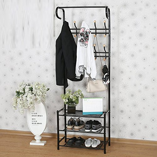Arte multifuncional del metro de los estantes de los zapatos de la ropa de Dongyd vinculado al estante del vestíbulo de las perchas