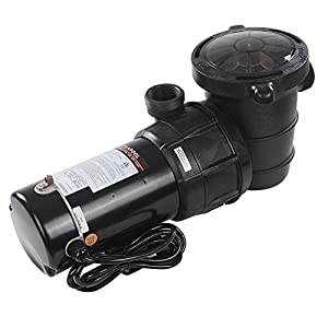 DURABLE & STURDY: ETL, CSA Certification for motor, longer lasting than those without certification QUITE & POWERFUL: 1.5 HP above ground pool pump, draining 4980 gallon per hour quickly and quitely EASY TO INSTALL: Set up in minutes, suggested insta...