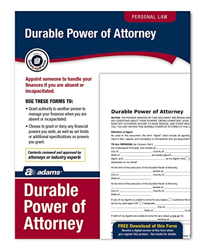 Adams Durable Power of Attorney, Forms and Instructions (LF205)