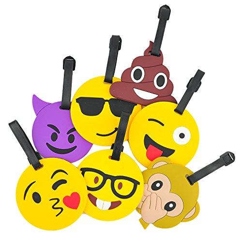 Luggage Tags Bag Tags Travel Tags Various Emoji Expressions Supplied 1 X Randomly
