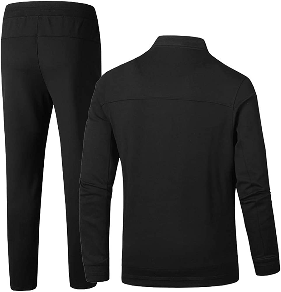 INVACHI Mens Casual 2 Pieces Athletic Full Zip Sports Sets Jacket /& Pants Active Fitness Sweat Tracksuit Set