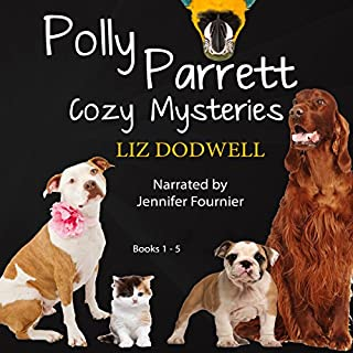 Polly Parrett Pet-Sitter Cozy Mysteries Collection (5-Books-in-1): Doggone Christmas, The Christmas Kitten, Bird Brain, Seeing Red, The Christmas Puppy audiobook cover art