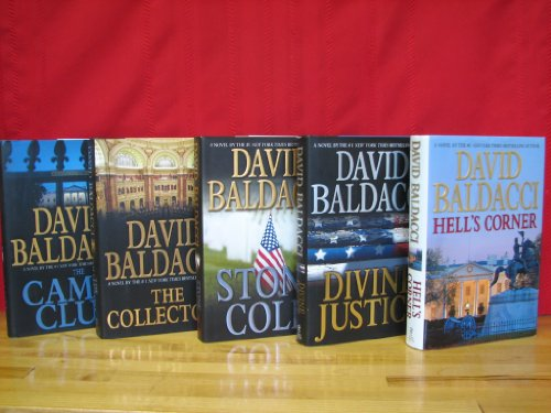 Camel Club Series Complete Set, Volumes 1-5, By David Baldacci. Hardcover (Camel Club / The Collectors / Stone Cold / Divine Justice / Hell's Corner)