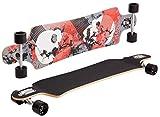 SportPlus Lowrider Deadtwins Skateboard – Monopatín Multicolor – Tabla de Skate - Longboard
