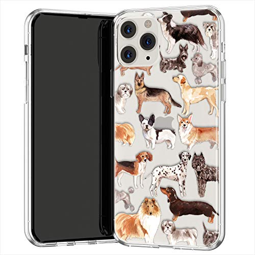 Lex Altern TPU Funda para Apple iPhone 12 Pro SE 11 XS MAX XR 8 7 Plus 6 + Teen Animales Increíble Transparente Encantadora Delgado Ligera Carcasa Perras Cubierta Chicas Kawaii Linda uk0754