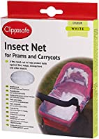 Clippasafe Pram & Carrycot Insect Net - White