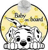 Disney Segnale Auto Baby On Board Con Grafiche De La Carica Dei 101 Attacco A Ventosa - 500 g