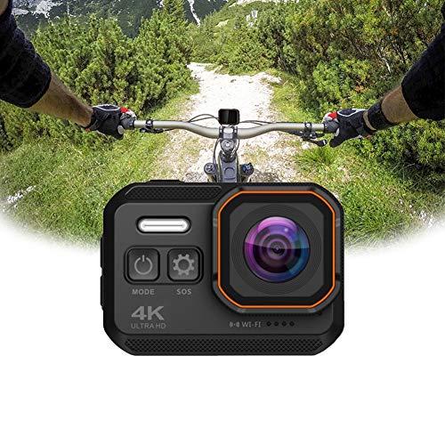 Action Cam Nativo 4K 24FPS Fotocamera Subacquea Schermo IPS da 2.0 Pollici 170° Angolo Ampio WiFi Impermeabile IP68 Supporta la modalità Auto/rilevamento del Movimento/WDR-Vari Accessori,Nero