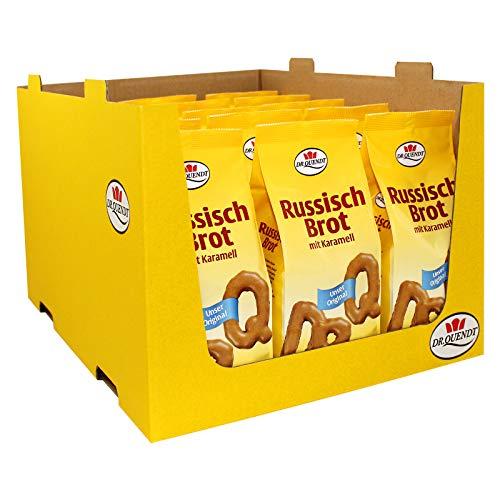 15er Pack Dr. Quendt Dresdner Russisch Brot (15 x 100 g) in Buchstabenform mit viel Karamell natürlich gebacken